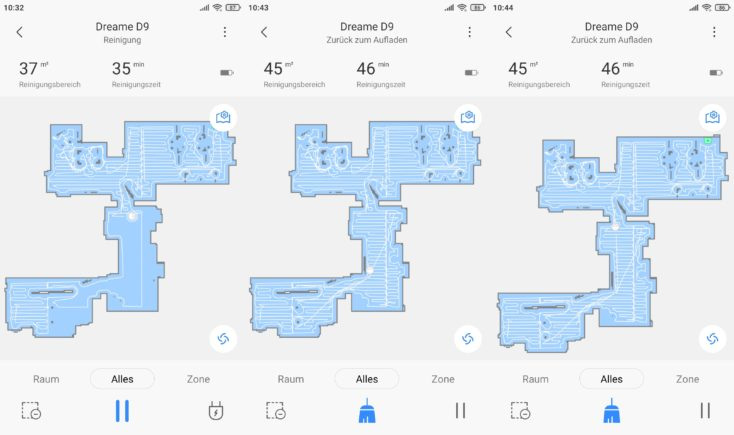 Dreame D9 vacuum robot Xiaomi Home App Mapping