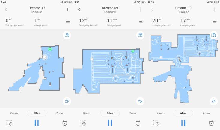 Dreame D9 vacuum robot Xiaomi Home App Mapping Start