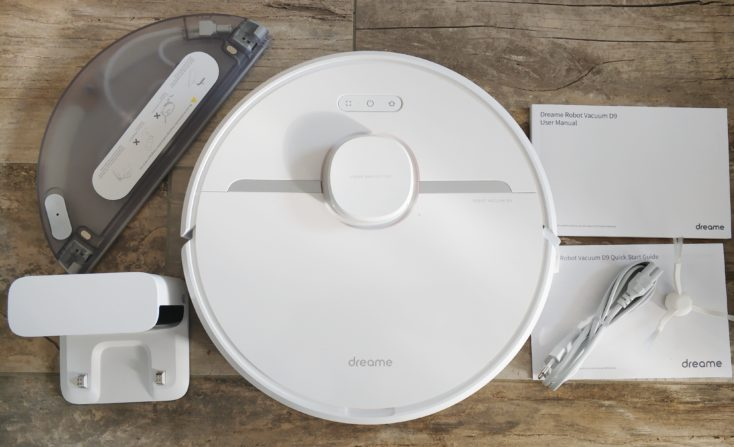Dreame D9 vacuum robot scope of delivery