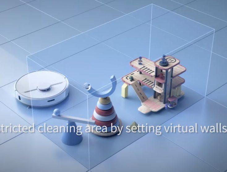 Dreame D9 vacuum robot virtual walls