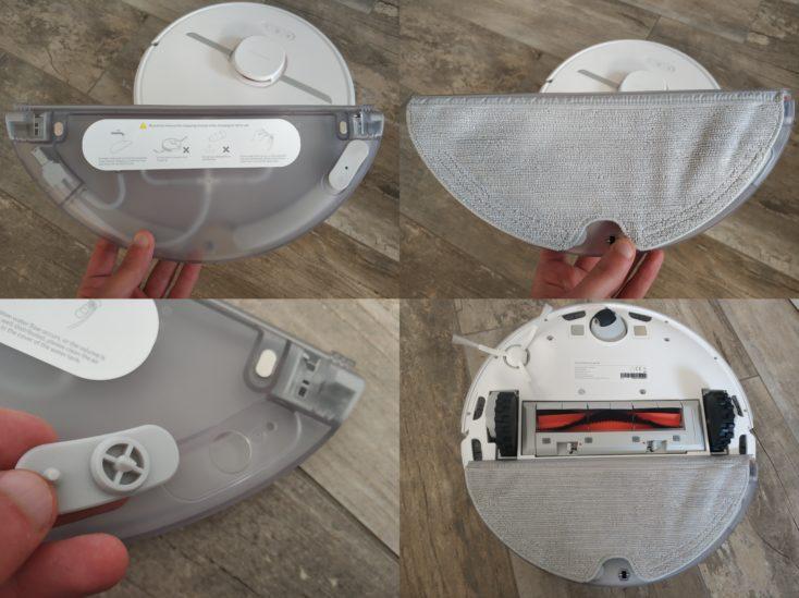 Dreame D9 vacuum robot water tank attachment underside