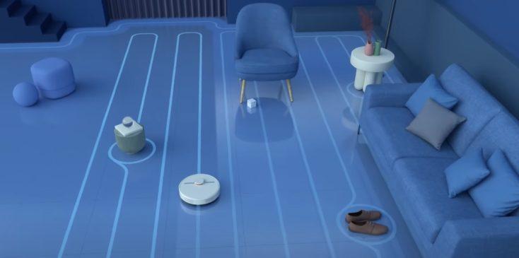 Dreame D9 vacuum robot working method navigation straight paths