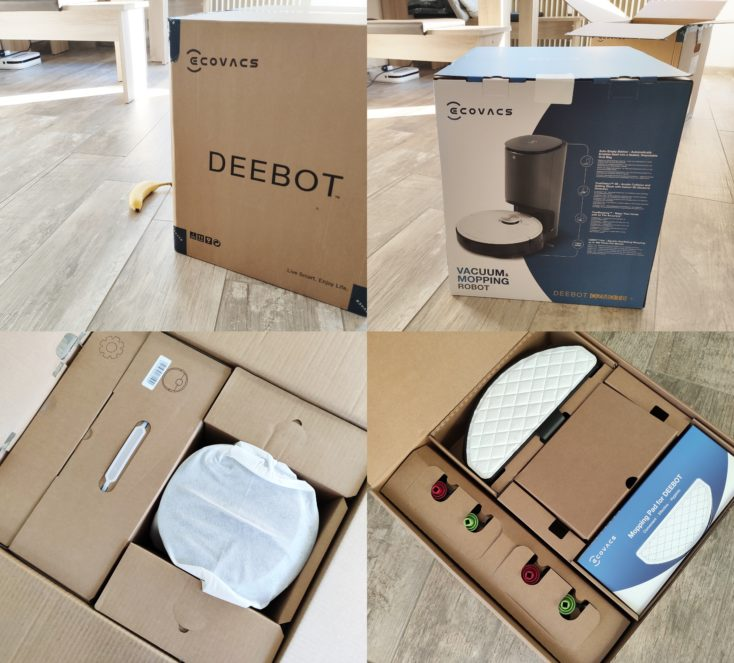 Ecovacs Deebot Ozmo T8 suction robot Packaging Scope of delivery