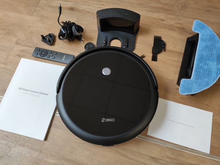 Qihoo 360 C50 vacuum robot scope of delivery