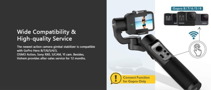 Hohem iSteady Pro3 Gimbal for Action Cam compatibility