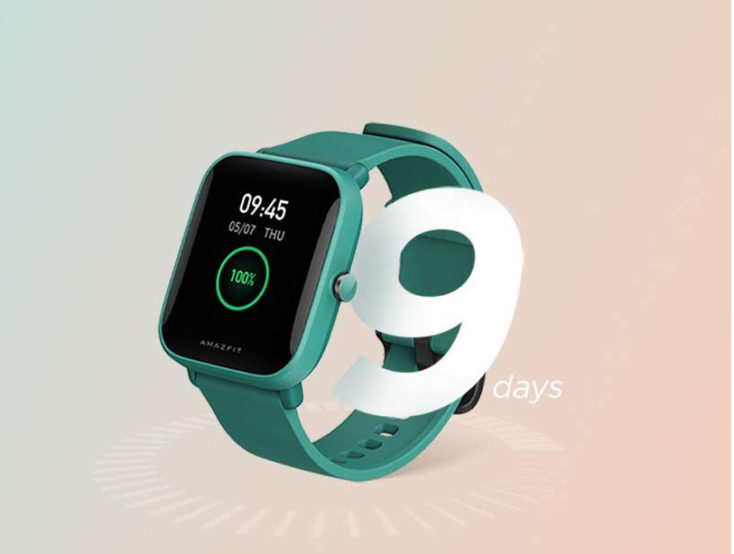 Amazfit Bip U Smartwatch battery life