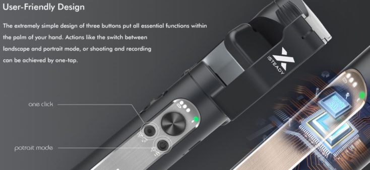 Hohem iSteady X Gimbal for Smartphone Controls