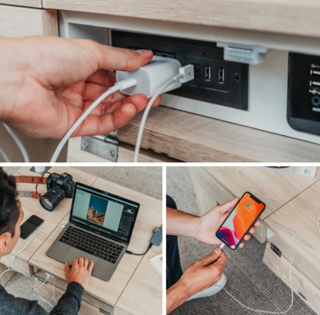 coolest table table USB inputs work laptop