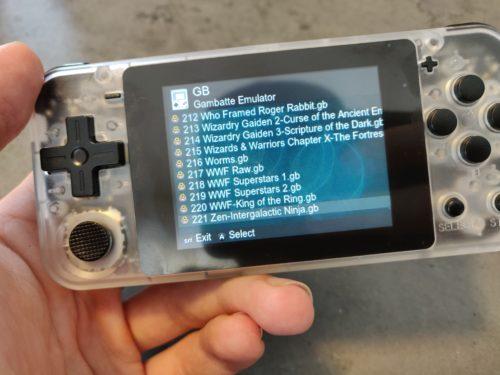 Powkiddy Q90 GameBoy Games