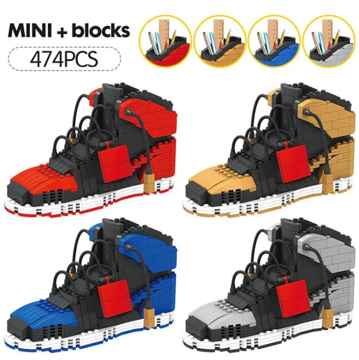 AliExpress building blocks sneakers different colors
