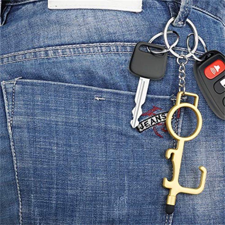 Door hook on the key ring