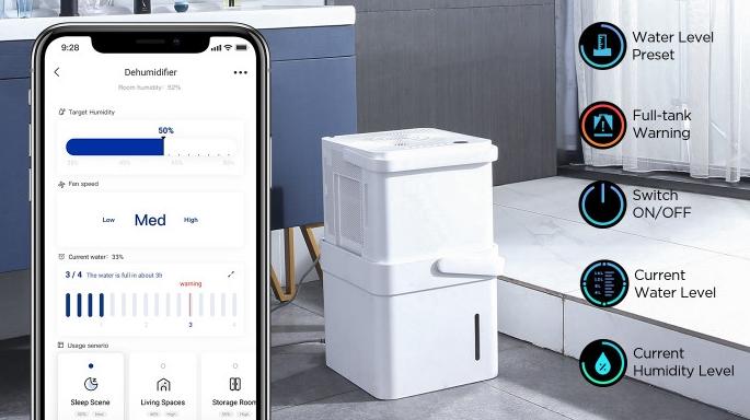 Midea Cube dehumidifier App functions
