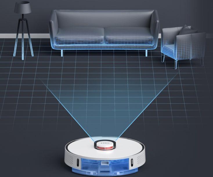 Roidmi EVE Plus vacuum robot laser room measurement wiping function