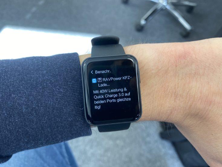 Xiaomi Mi Watch Lite Smartwatch Notifications