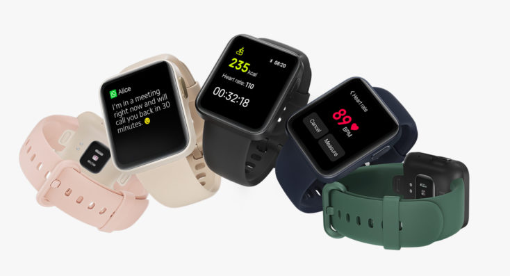 Xiaomi Mi Watch Lite smartwatch colors