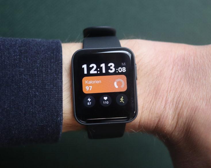 Xiaomi Mi Watch Lite smartwatch on the arm