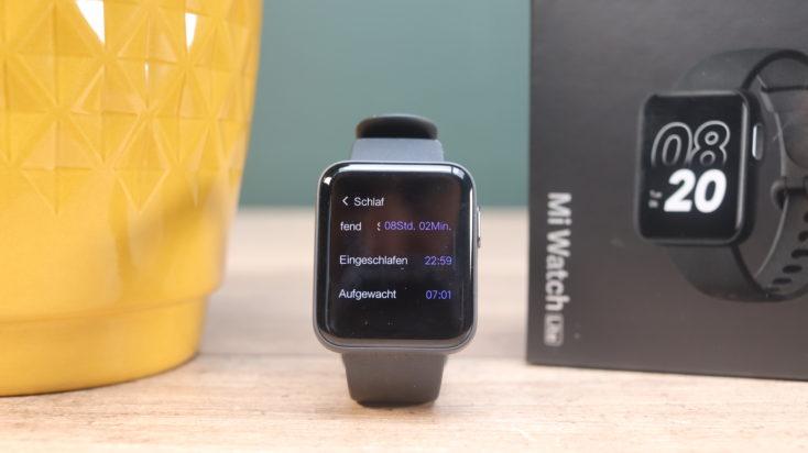 Xiaomi Mi Watch Lite smartwatch sleep tracking