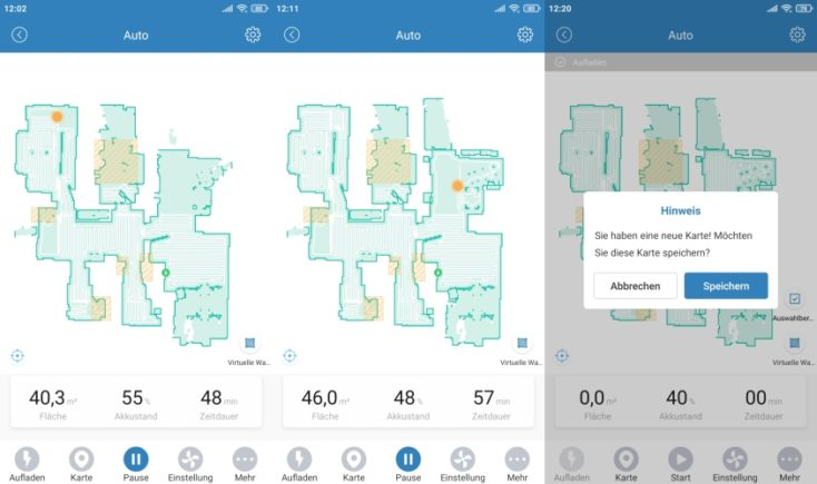 Proscenic M6 Pro Robot Vacuum Cleaner App map saving Cleaning completed