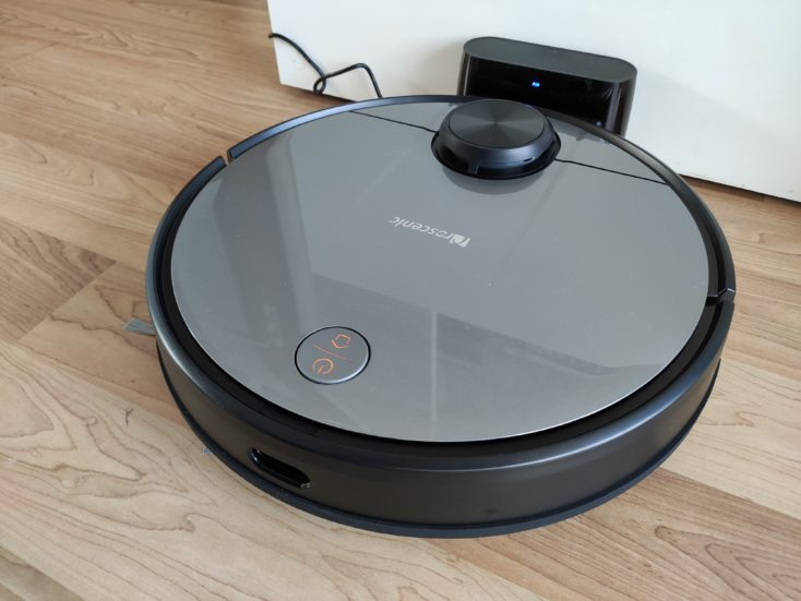 Proscenic M6 Pro Robot Vacuum Cleaner at charging station Battery life
