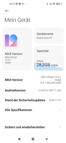 Redmi Note 9T MIUI