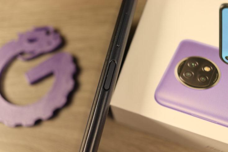 Redmi Note 9T fingerprint sensor