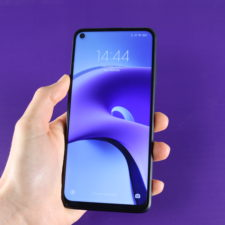 Redmi Note 9T smartphone in hand