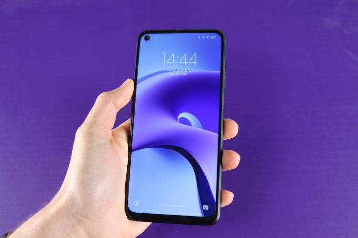 Redmi Note 9T smartphone in hand