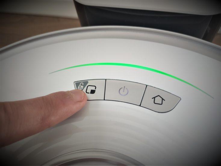 Roborock S7 Robot Vacuum Cleaner Controls Buttons