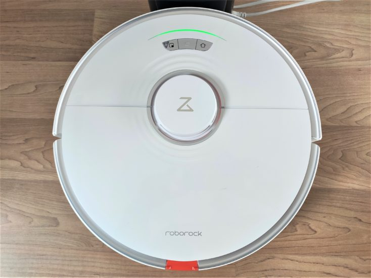 Roborock S7 Robot Vacuum Cleaner at the charging station