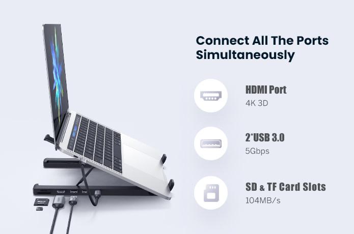 UGREEN X-Kit Laptop Stand USB Hub