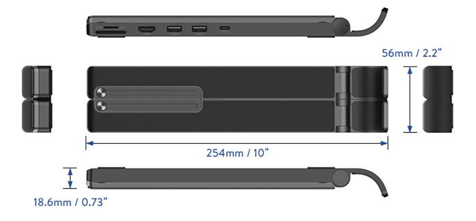 UGREEN X-Kit Laptop Stand angles measurements