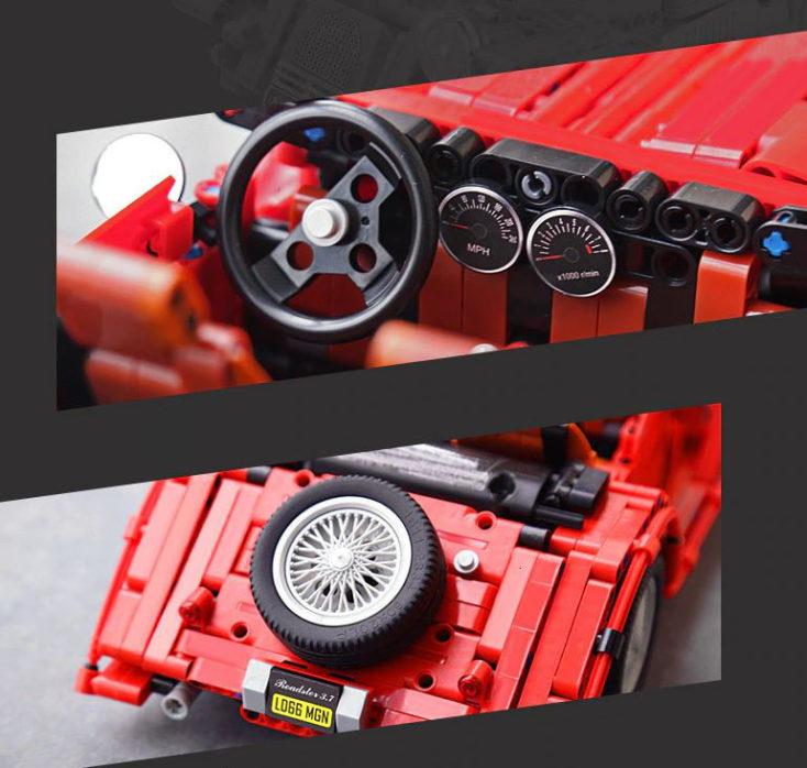 Vintage sports car details