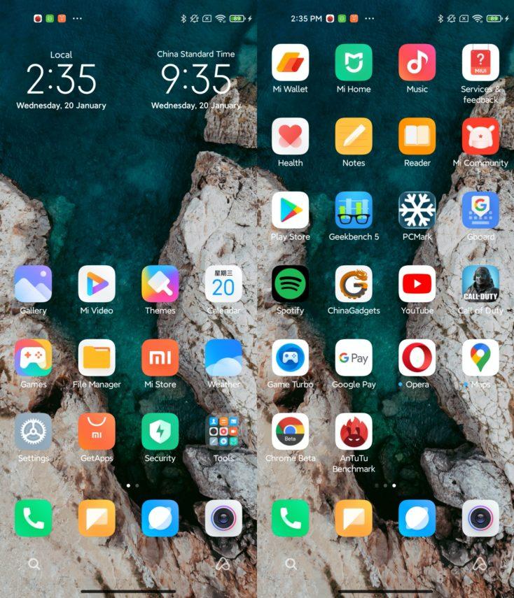 Xiaomi Mi 11 MIUI apps