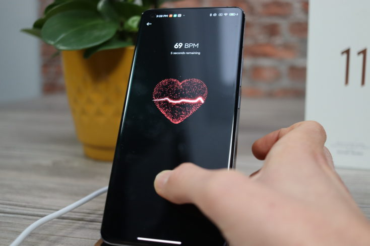Xiaomi Mi 11 heart rate monitor