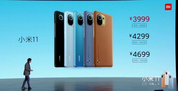 Xiaomi Mi 11 smartphone prices