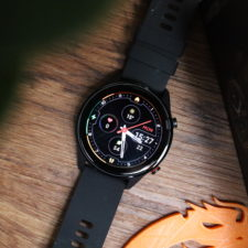 Xiaomi Mi Watch smartwatch from above