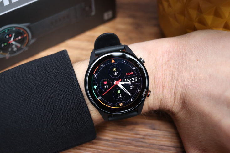 Xiaomi Mi Watch smartwatch on hand