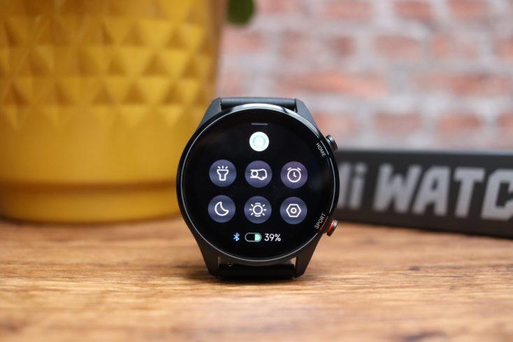 Xiaomi Mi Watch smartwatch quick settings