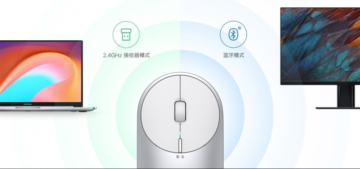 Xiaomi Portable Mouse 2 reception options
