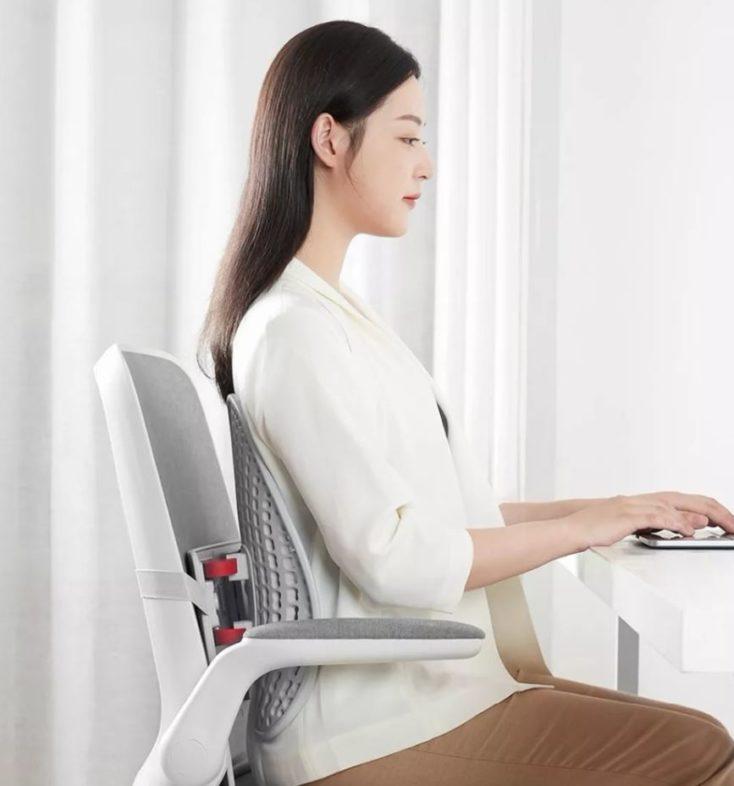 Leband backrest correct sitting position