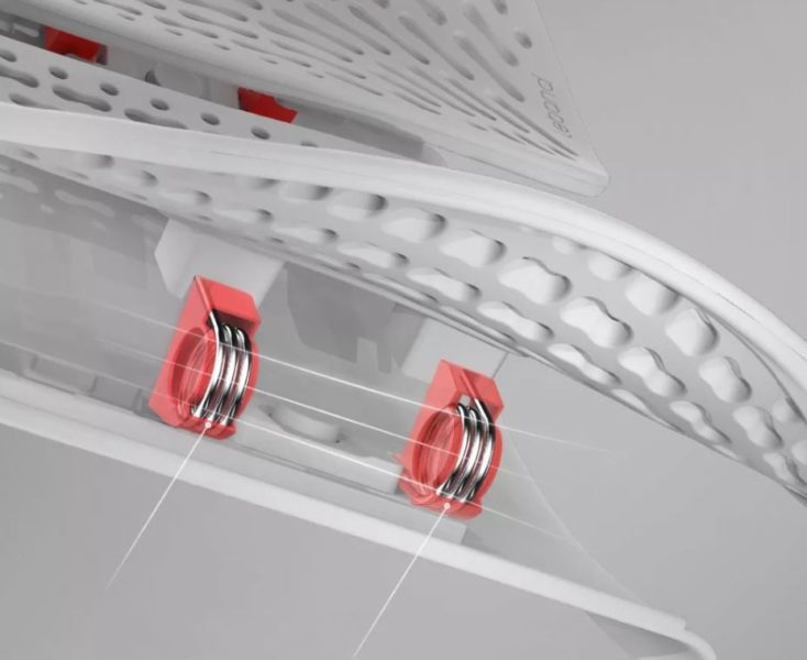 Leband backrest height adjustability
