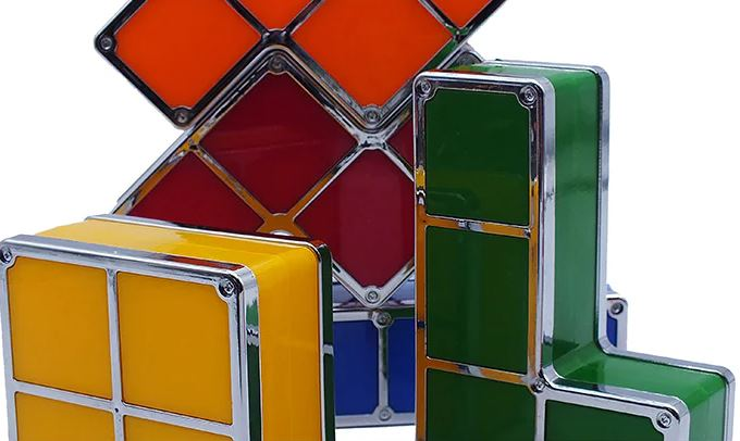 Tetris Deco Light Closeup