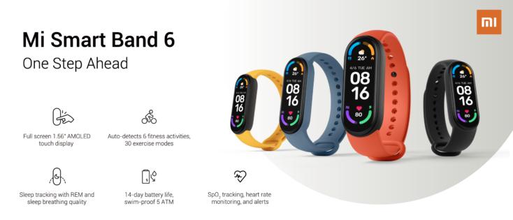 Xiaomi Mi Band 6 feature set