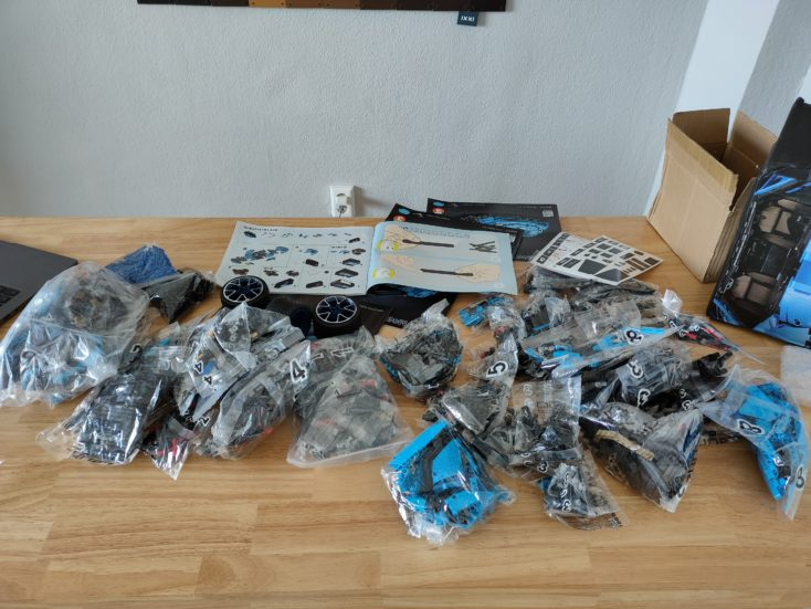 CaDA C61041 Parts in numbered bags