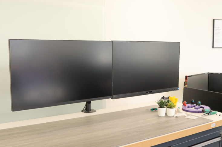HUANUO monitor holder double two monitors side by side