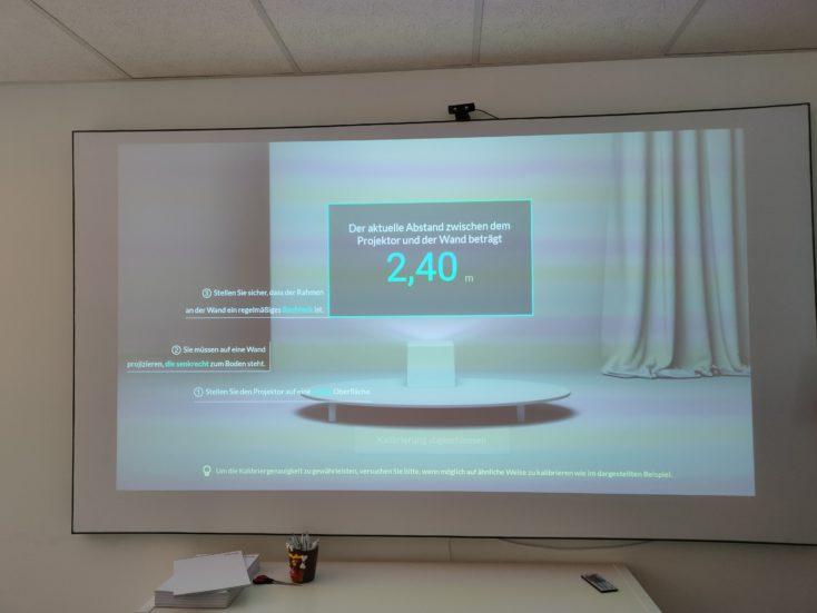 Mi Smart Projector 2 Pro distance