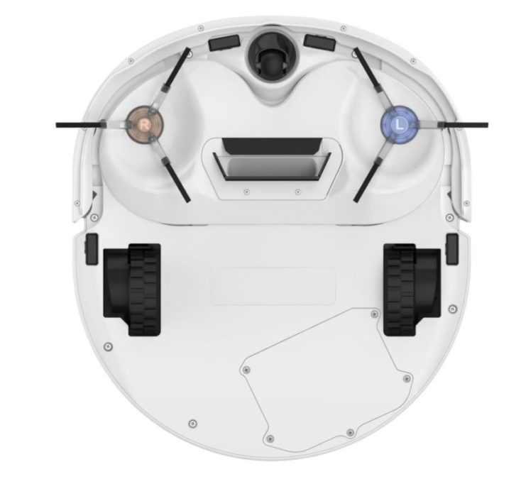 Narwal J1 Pro self-cleaning vacuum mopping robot underside without mopping function