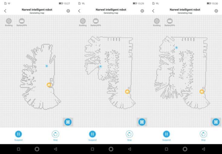 Narwal Robotics Robot Vacuum Cleaner App Mapping