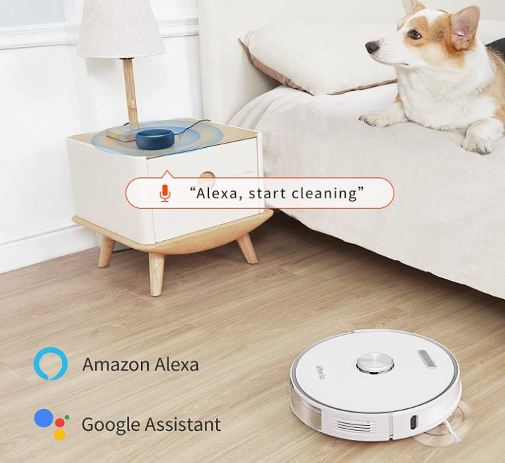 Ultenic T10 vacuum robot with Extraction Station voice control Alexa Google