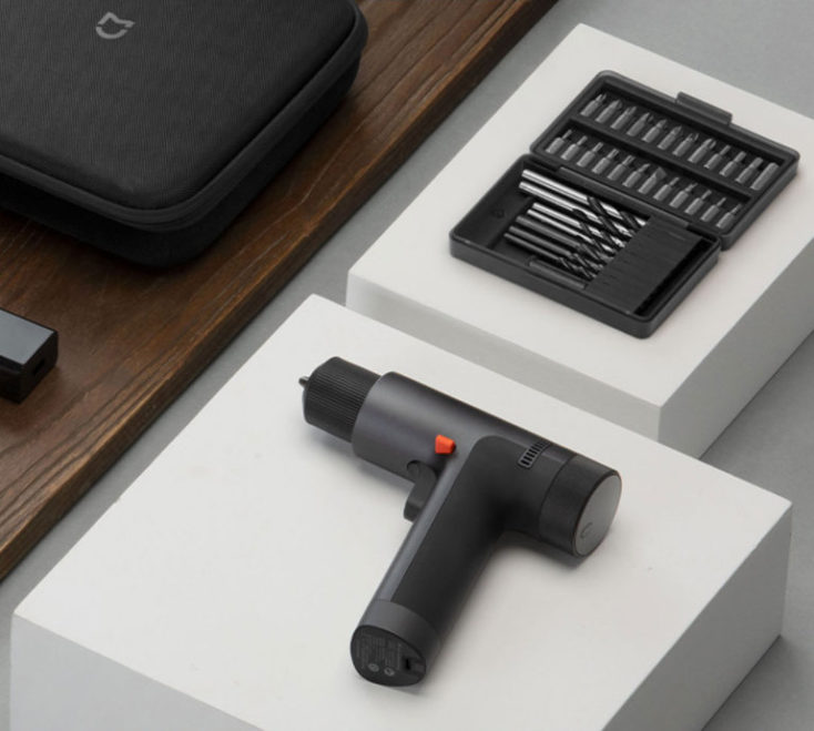 Xiaomi Mijia cordless drill on the table
